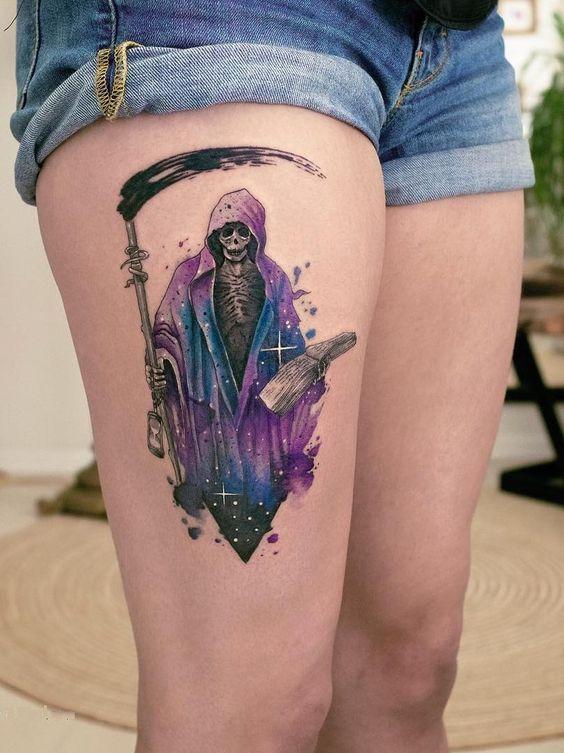 彩色纹身图案卡通纹身图案小腿部位纹身欧美纹身风格抽象纹身素材几何